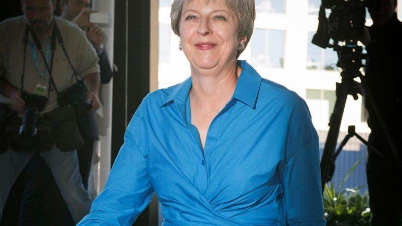Premier Theresa May przed konferencją Partii Konswerwatywnej, źródło: Gazeta Wyborcza