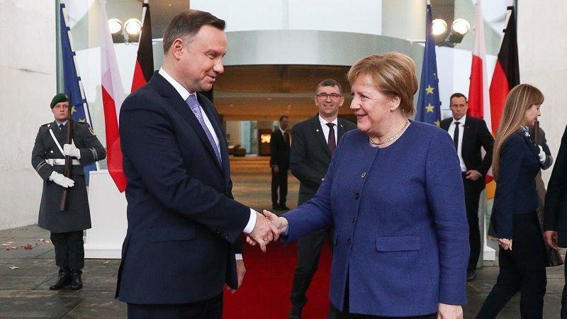 Prezydent Andrzej Duda i kanclerz Angela Merkel, źródło Krzysztof Sitkowski KPRP