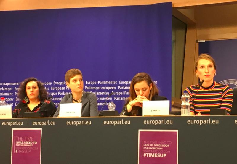"""Oficjalna inauguracja projektu """"MeTooEP"""" (Jeanne Ponté, pierwsza z prawej), źródło: Twitter/@MeTooEP"""