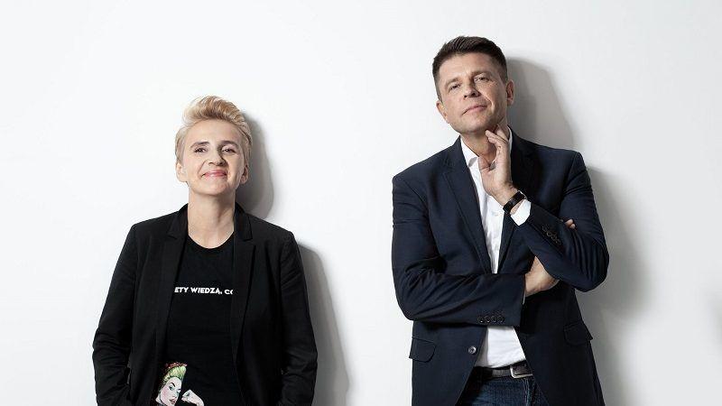 """Współzałożyciele partii """"Teraz!"""":Joanna Scheuring-Wielgus i Ryszard Petru, źródło: twitter"""