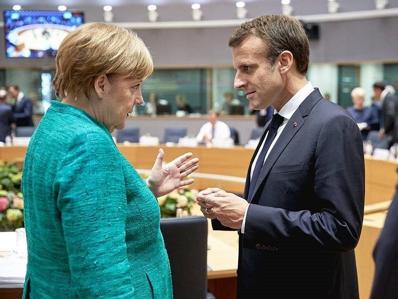 Kanclerz Niemiec Angela Merkel i prezydent Francji Emmanuel Macron, źródło KE