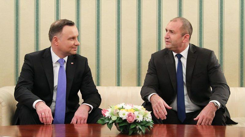 Prezydenci Polski i Bułgarii Andrzej Duda i Rumen Radew w Sofii, źródło Jakub Szymczuk KPRP