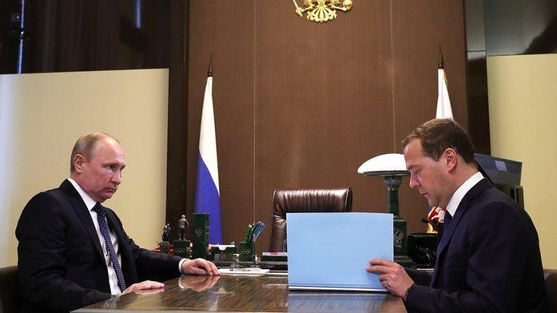 Prezydent Rosji Władimir Putin oraz premier Rosji Dmitrij Miedwiediew, źródło: en.kremlin.ru