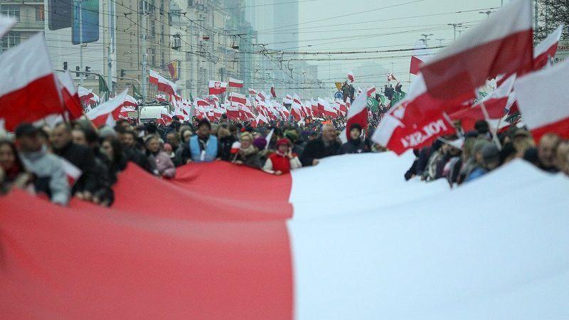 Warszawa Marsz Niepodległości 2018, źródło Krzysztof Sitkowski KPRP