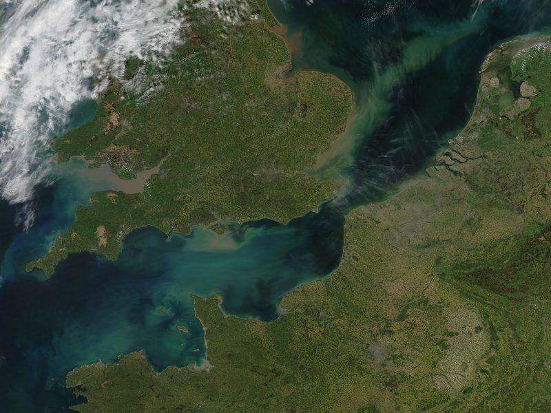 Kanał La Manche widziany z kosmosu, źródło: Flickr/NASA's Marshall Space Flight Center