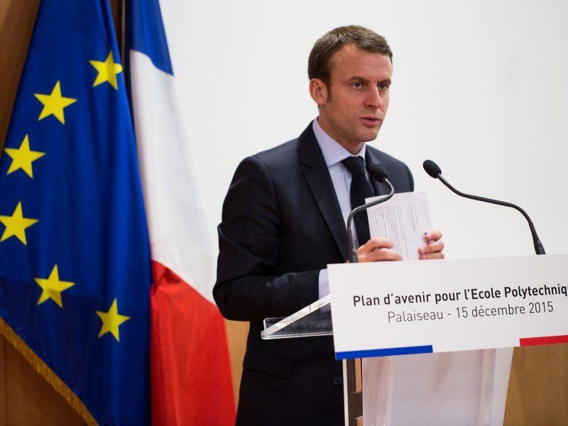 Emmanuel Macron, źródło: Flickr/© École polytechnique - J.Barande