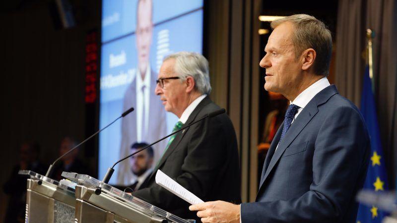Przewodniczący Komisji Europejskiej Jean-Claude Juncker oraz przewodniczący Rady Europejskiej Donald Tusk, źródło: consilium.europa.eu, copyright: European Union