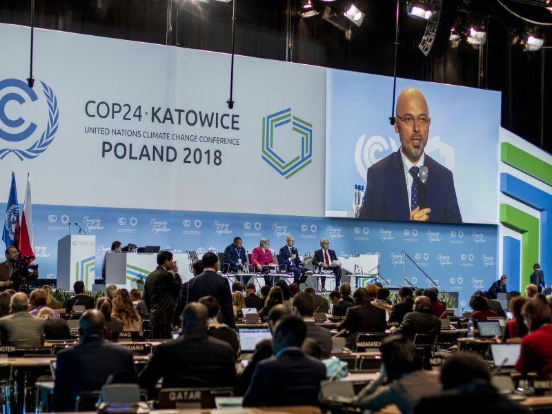 Michał Kurtyka podczas wystąpienia na COP24 w Katowicach, źródło: Flickr/UNclimatechange