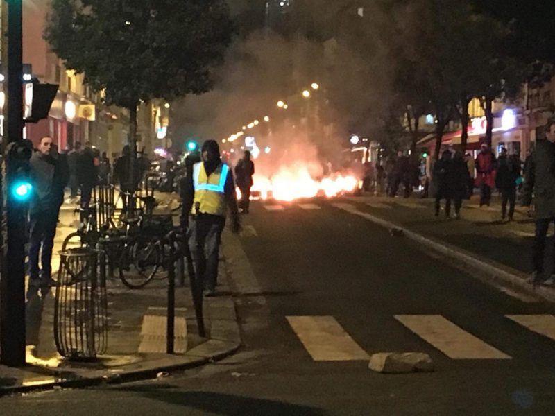 Protesty w Paryżu, fot. Marcin Badura