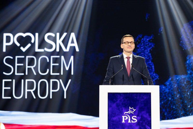 Premier Mateusz Morawiecki na konwencji PiS, źródło pis.org