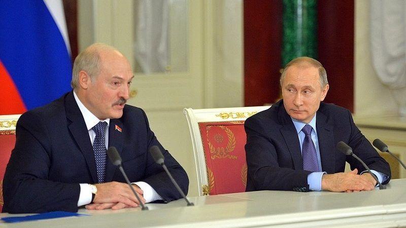 Prezydenci Białorusi i Rosji Alaksandr Łukaszenka i Władimir Putin, źródło facebook.com for.vladimir.putin photos