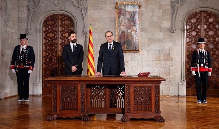 Quim Torra obejmuje stanowisko, źródło wikimedia za Generalitat de Catalunya