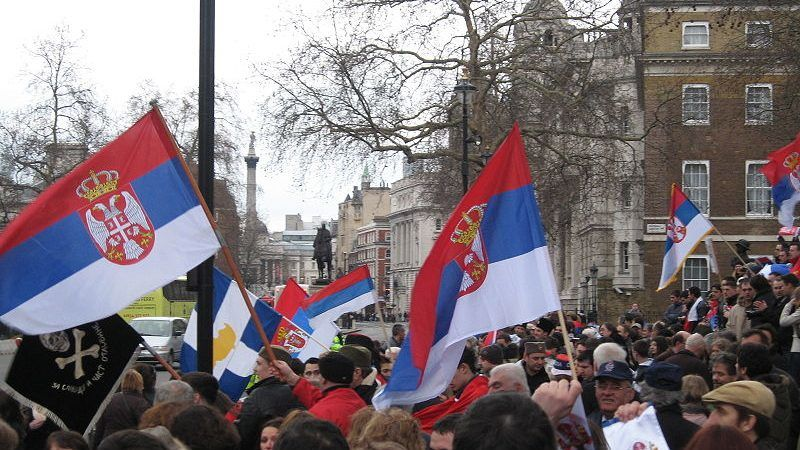 Serbski protest, źródło: Wikipedia, fot. Claudius Gothicus