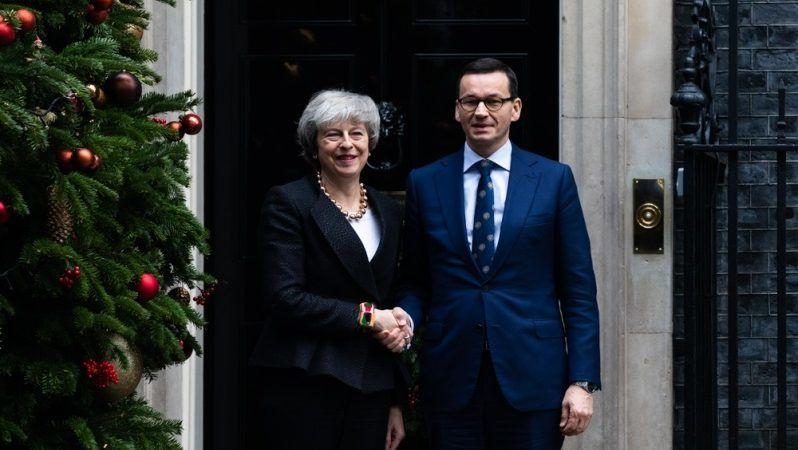 Szefowie rządów Wielkiej Brytanii i Polski Theresa May i Mateusz Morawiecki, źródło Adam Guz KPRM