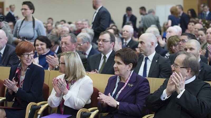 Tadeusz Rydzyk i politycy PiS na konferencji w Toruniu, źródło pis.org