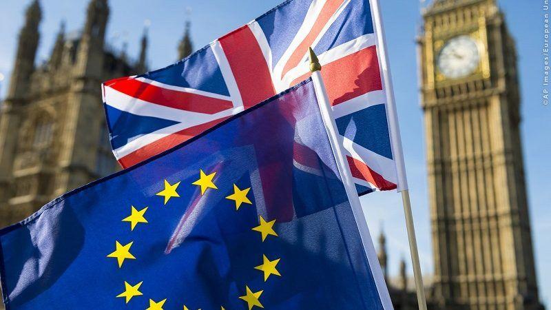 Flagi GB i UE na tle Big Bena, źródło PE