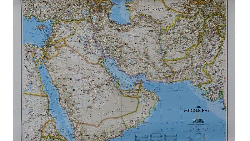 Mapa Bliskiego Wschodu, źródło świat map.pl