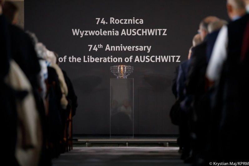 Obchody 74. rocznicy wyzwolenia obozu Auschwitz -Birkenau, źródło Krystian Maj, KPRP