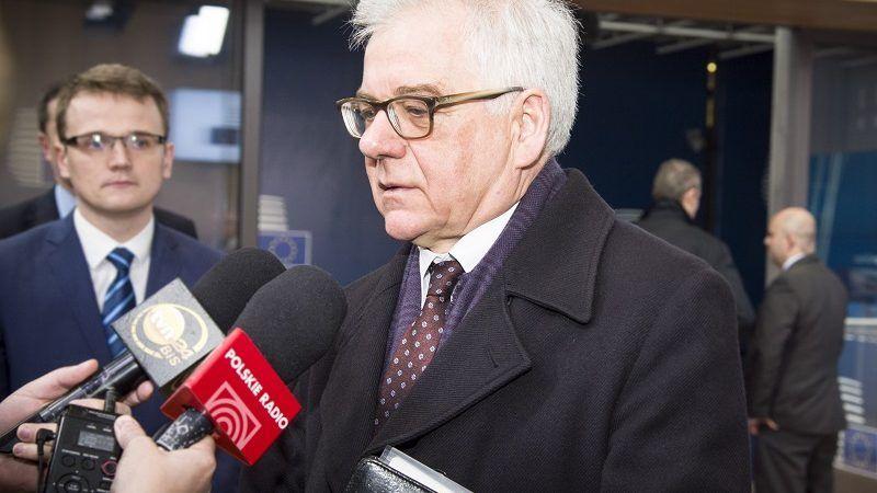 Szef polskiej dyplomacji Jacek Czaputowicz, źródło consilium