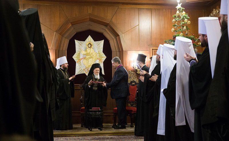Tomos dla ukraińskiego kościoła prawosławnego, źródło twitter