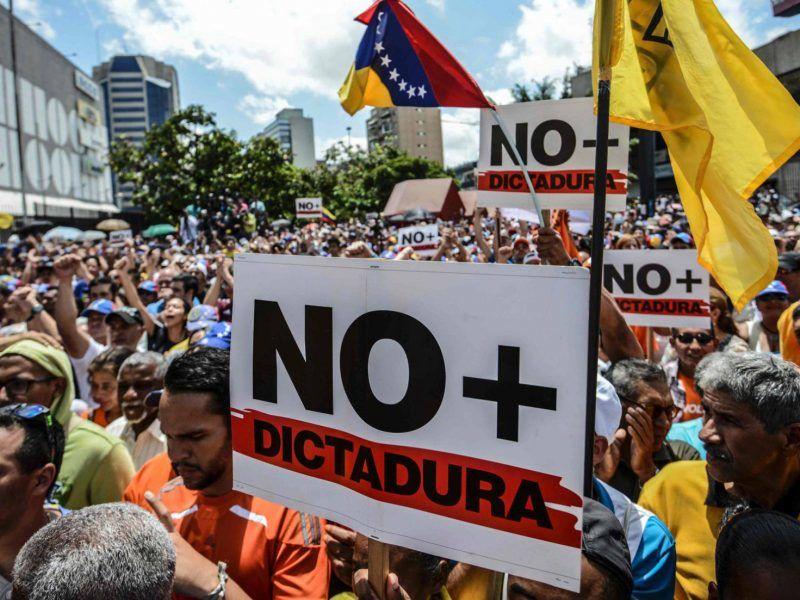 Protest opozycji w Wenezueli, źródło: Flickr, fot. A.Davey
