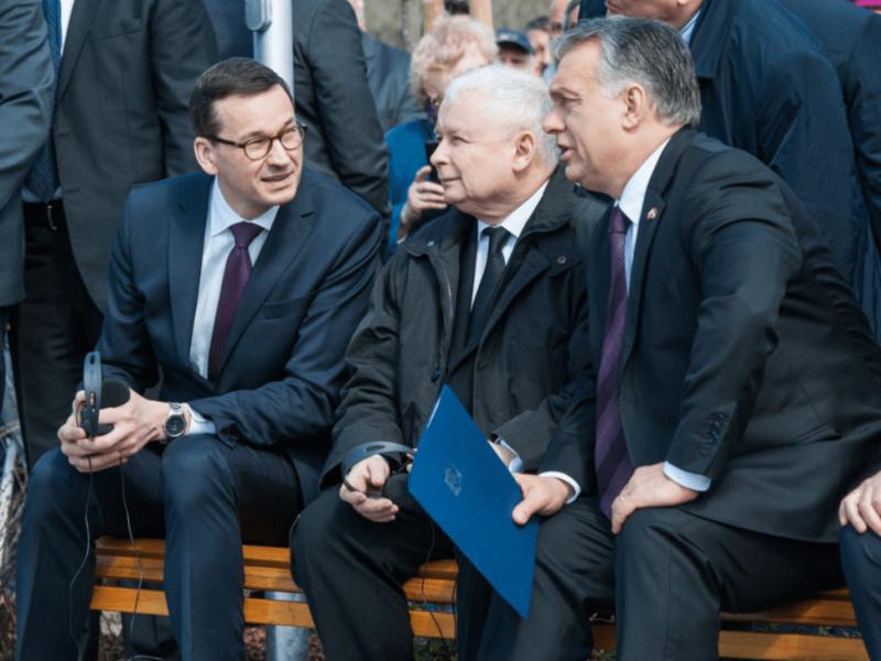 Mateusz Morawiecki, Jarosław Kaczyński, Viktor Orban, fot. W. Kompała, KPRM