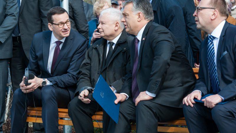 Morawiecki-Kaczynski-i-Orban, fot. W.Kompała KPRM