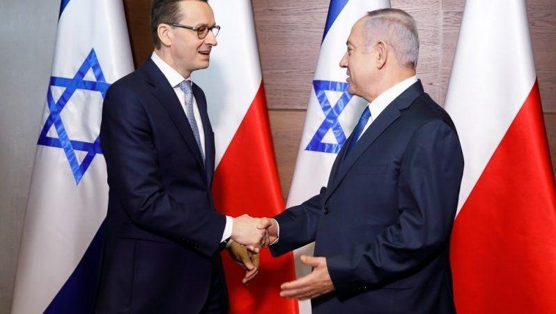 Premierzy Polski i Izraela Mateusz Morawiecki i Benjamin Netanjahu, źródło Krystian Maj KPRM