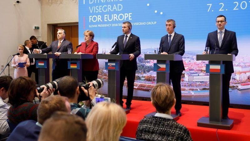 Szczyt V4 z kanclerz Niemiec Angela Merkel w Bratysławie`19, źródło Krystian Maj KPRM