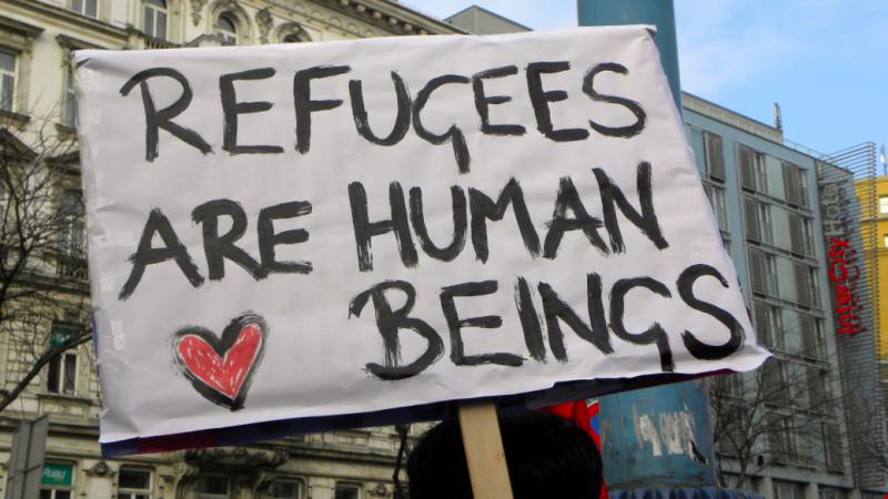 Manifestacja solidarności z osobami ubiegającymi sięo azyl w Wiedniu, źródło: Wikipedia, fot. Haeferl (Creative Commons Attribution-Share Alike 3.0 Unported license)