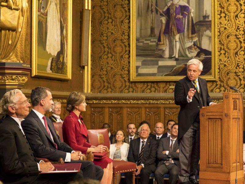 Spiker Izby Gmin John Bercow (przy mównicy), źródło: Flickr/UK Parliament