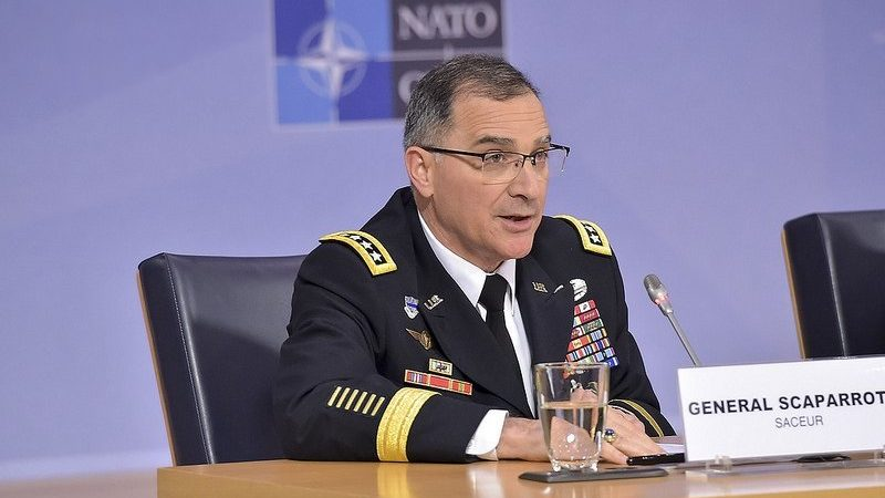 Dowódca sił NATO w Europie, gen. Curtis Scaparrotti, źródło twitter NATO