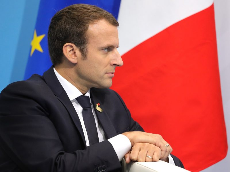 Prezydent Francji Emmanuel Macron, źródło: en.kremlin.ru