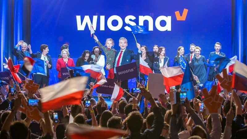 Kampania wyborcza do PE Wiosny Robarta Biedronia, źródło twitter wiosnabiedronia