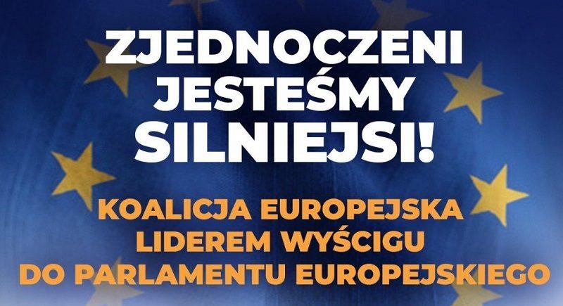 Koalicja Europejska liderem wyścigu do PE, źródło twitter