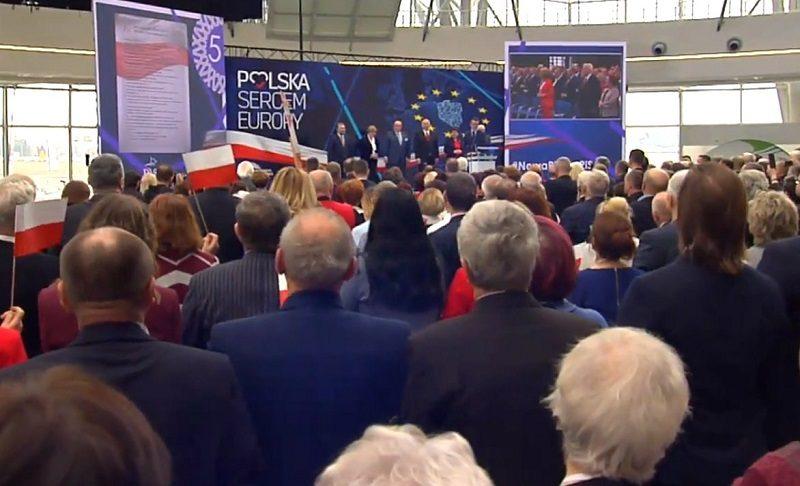 Konwencja PiS w Jasionce przed wyborami do PE, źródło twitter @beatamk