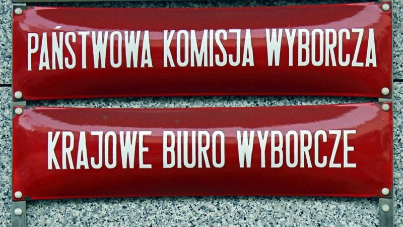 Państwowa Komisja Wyborcza, Krajowe Biuro Wyborcze, tabliczki informacyjne, źródło wikimedia