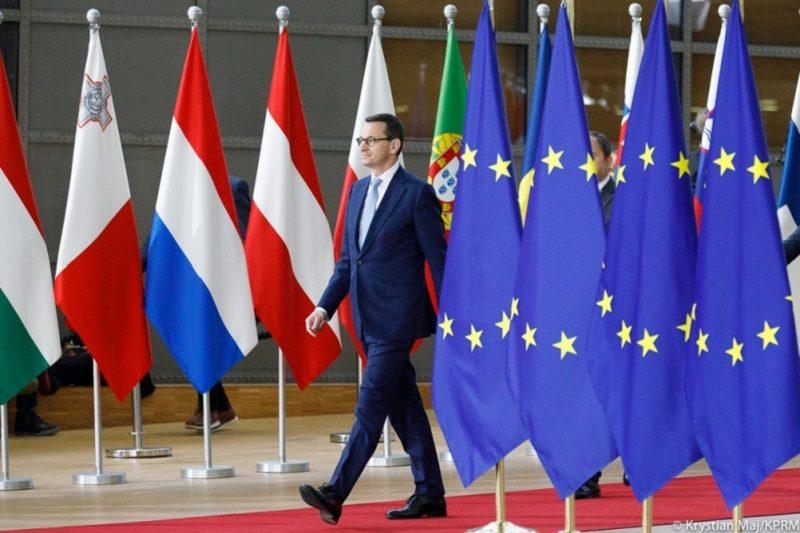 Premier Mateusz Morawiecki na szczycie UE, źródło Krystian Maj KPRM