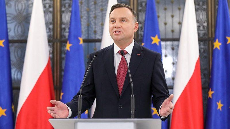 Prezydent Andrzej Duda, konf.pras. po expose szefa MSZ Jacka Czaputowicza 2019, źródło Jakub Szymczuk KPRP