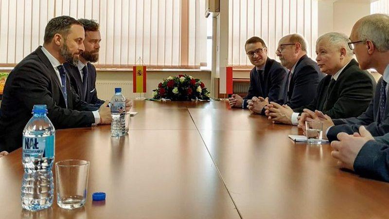 Spotkanie polityków PiS i hiszpańskiej partii Vox, źródło twitter@pisorgpl