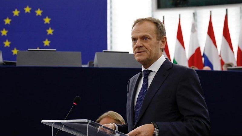 Szef Rady Europejskiej Donald Tusk, źródło twitter eucopresident