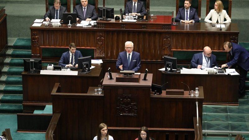 Wystąpienie szefa MSZ w Sejmie nt. polskiej polityki zagranicznej `19, źródło twitter sejm RP