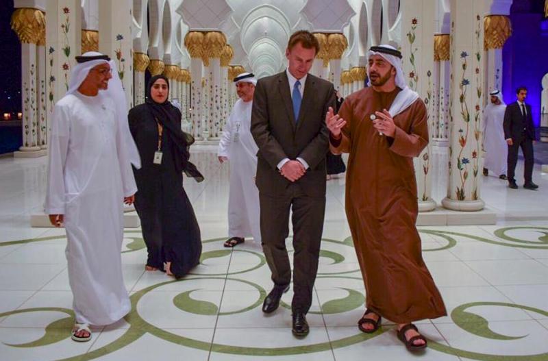 Jeremy Hunt podczas rozmów w Jemenie, źródło: Twitter/@Jeremy_Hunt
