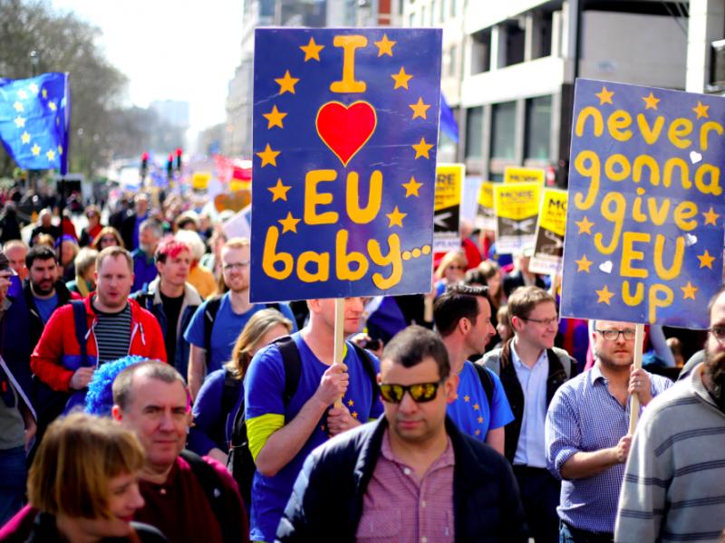 Demonstracja przeciwników brexitu, źródło: Wikipedia, fot. ilovetheue (Creative Commons Attribution-Share Alike 4.0 International license)