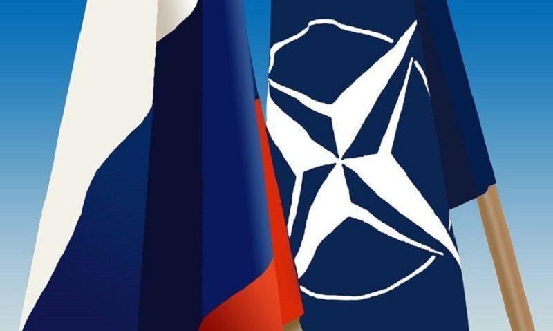 flagi Rosji i NATO, źródło wikimedia