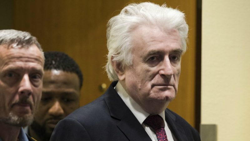 Radovan Karadžić podczas procesu (Źródło: UN International Criminal Tribunal for the former Yugoslavia)