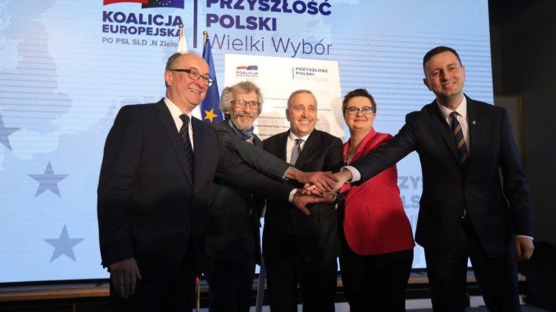 Koalicja Europejska ze swoim hasłem wyborczym, źródło twitter PO