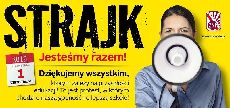 Strajk nauczycieli, plakat, źródło twitter ZNP