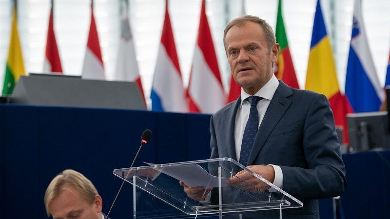 Szef Rady Europejskiej Donald Tusk w PE, źródło PE CC BY-NC-ND 4.0
