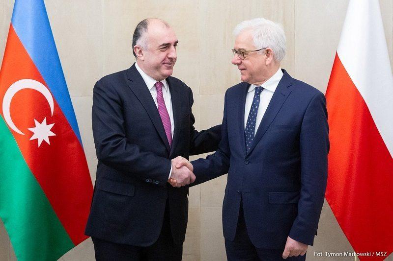 Szefowie dyplomacji Azerbejdżanu i Polski Elmar Mammadyarov i Jacek Czaputowicz w Warszawie, źródło twitter azerbaijanmfa
